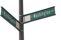 芝加哥签署街道 免版税库存图片