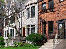 芝加哥老连栋房屋 免版税库存图片