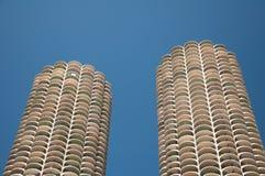 芝加哥耸立孪生 免版税图库摄影