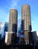 芝加哥耸立孪生 库存照片