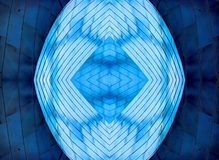 芝加哥蓝色金属抽象设计 免版税图库摄影