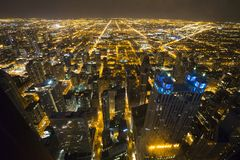 芝加哥街市从第95楼 图库摄影