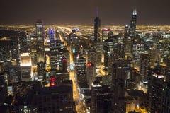 芝加哥街市从第95楼 免版税库存照片