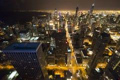 芝加哥街市从第95楼 库存照片