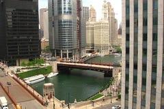 芝加哥街市伊利诺伊s摩天大楼u 免版税库存照片