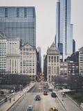 芝加哥街市摩天大楼 免版税库存照片