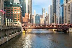 芝加哥街市河 免版税库存图片