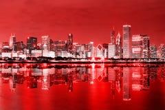 芝加哥街市的12月 库存图片