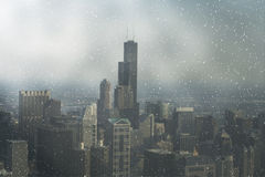 芝加哥街市视图 库存照片