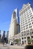 芝加哥街道场面 免版税库存图片