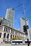 芝加哥街道视图 免版税图库摄影
