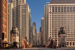 芝加哥街道 免版税图库摄影