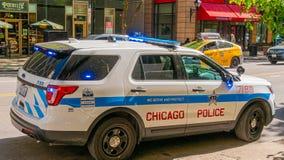 芝加哥警察车的芝加哥,美国- 2019年6月12日 免版税库存照片