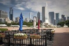 芝加哥象--白金汉喷泉 库存照片