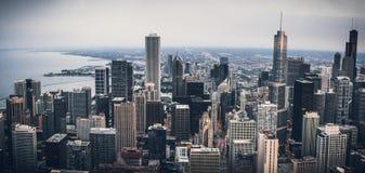 芝加哥都市风景全景 库存图片