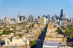 芝加哥都市风景视图 免版税库存图片