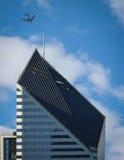 芝加哥飞过 免版税图库摄影