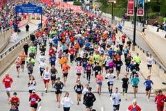 芝加哥马拉松 免版税库存照片