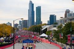芝加哥马拉松 库存照片