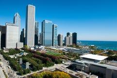 芝加哥鸟瞰图  免版税库存照片