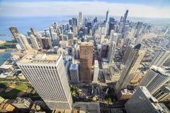 芝加哥,伊利诺伊美好的地平线  免版税图库摄影