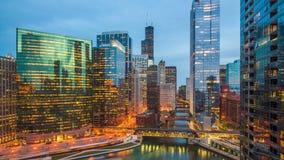 芝加哥,伊利诺伊,美国都市风景 股票视频