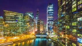 芝加哥,伊利诺伊,美国都市风景 股票录像