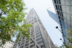 芝加哥,伊利诺伊,美国建筑学和都市风景  免版税库存图片