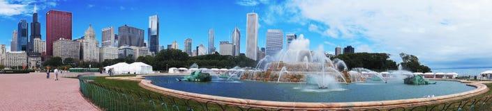 芝加哥,伊利诺伊- 9月8 :2012年9月8日的白金汉喷泉在芝加哥,伊利诺伊 图库摄影