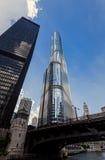 芝加哥,王牌国际饭店大厦 免版税图库摄影