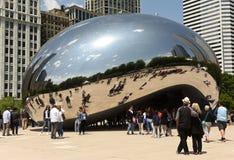 芝加哥,美国- 2018年6月05日:在云门附近的人们, publ 库存图片