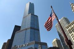 芝加哥,美国- 2018年6月04日:王牌国际饭店&塔 免版税库存照片