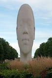 芝加哥:雕塑1004画象Jaume Plensa在2014年9月23日的千禧公园 库存照片