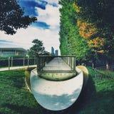 芝加哥:建筑学和自然城市 免版税库存图片