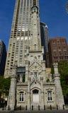 芝加哥水塔曼哈顿东区的看法  免版税库存图片