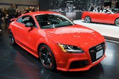 在芝加哥车展的Audi 库存图片