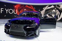 在芝加哥车展的Lexus 免版税库存图片