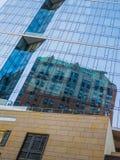 芝加哥玻璃门面 库存照片