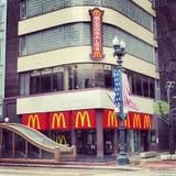 芝加哥mcdonalds 库存图片