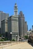 芝加哥riverwalk 免版税库存照片