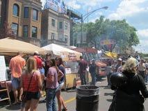 芝加哥sausagefest的伊利诺伊 免版税库存照片