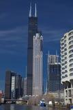 芝加哥skyscracers 库存照片