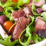 芝麻菜牛肉sald 免版税库存照片
