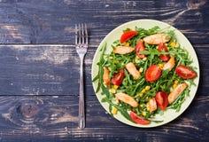 芝麻菜新鲜的沙拉 库存照片
