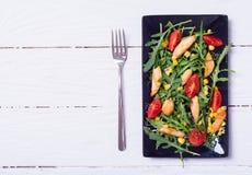 芝麻菜新鲜的沙拉 图库摄影