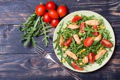 芝麻菜新鲜的沙拉 免版税库存照片
