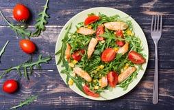 芝麻菜新鲜的沙拉 库存图片