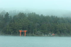 芦之湖在箱根 免版税库存照片