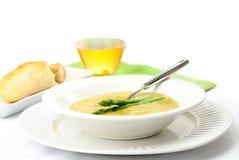 芦笋奶油色汤 免版税图库摄影