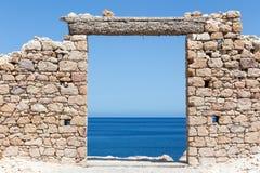 芦粟海岛,基克拉泽斯,希腊美丽如画的镇  图库摄影
